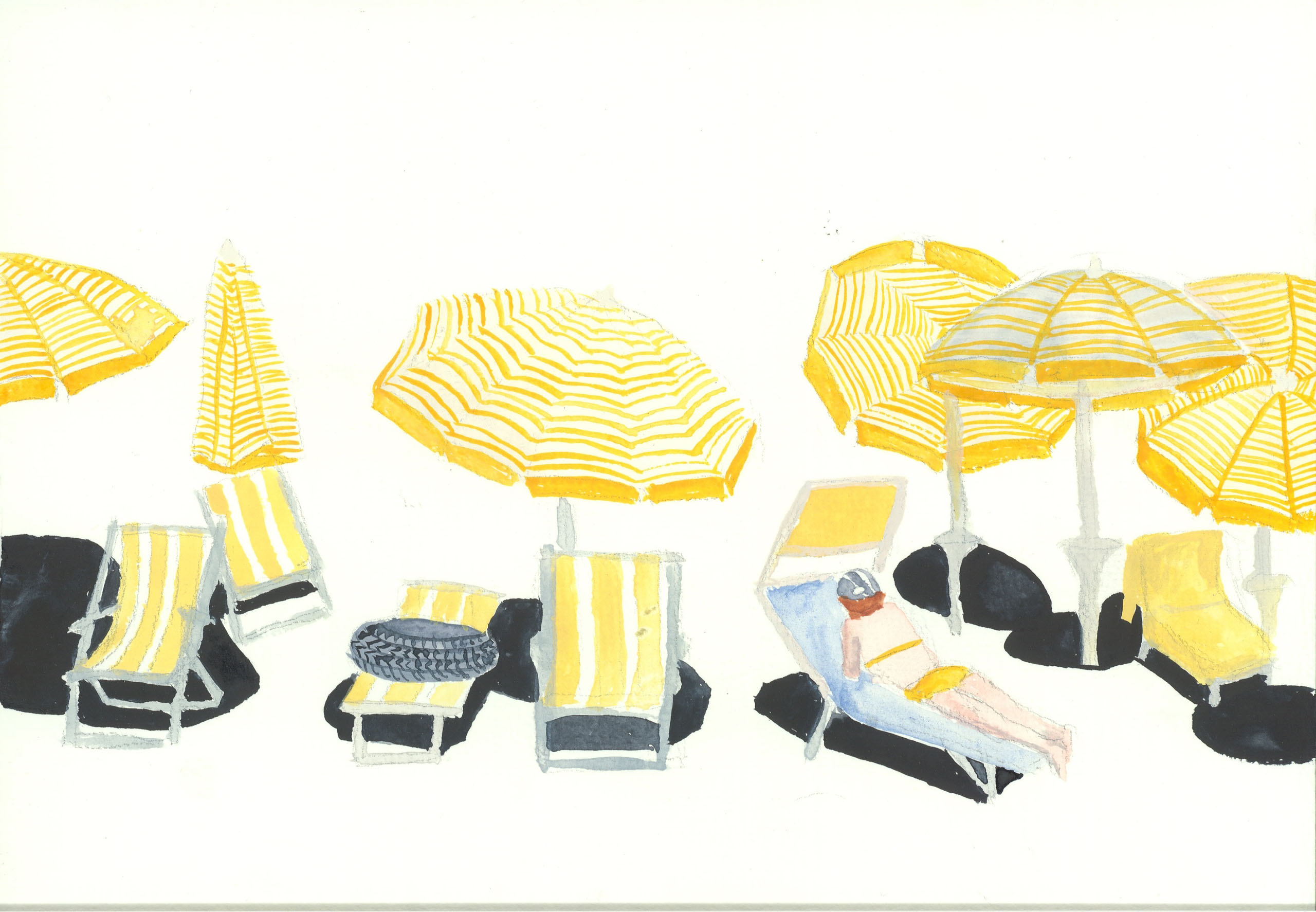 Juli Augusta Hohenbüchler | Aquarell auf Papier | 2. Turn | Galerie3 Velden