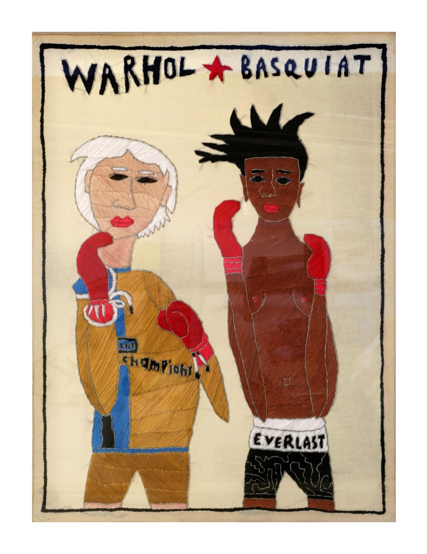 FLUX23 | Rohullah Kazimi | Warhol Basquiat | Stickbild | Foto DieSchlumper