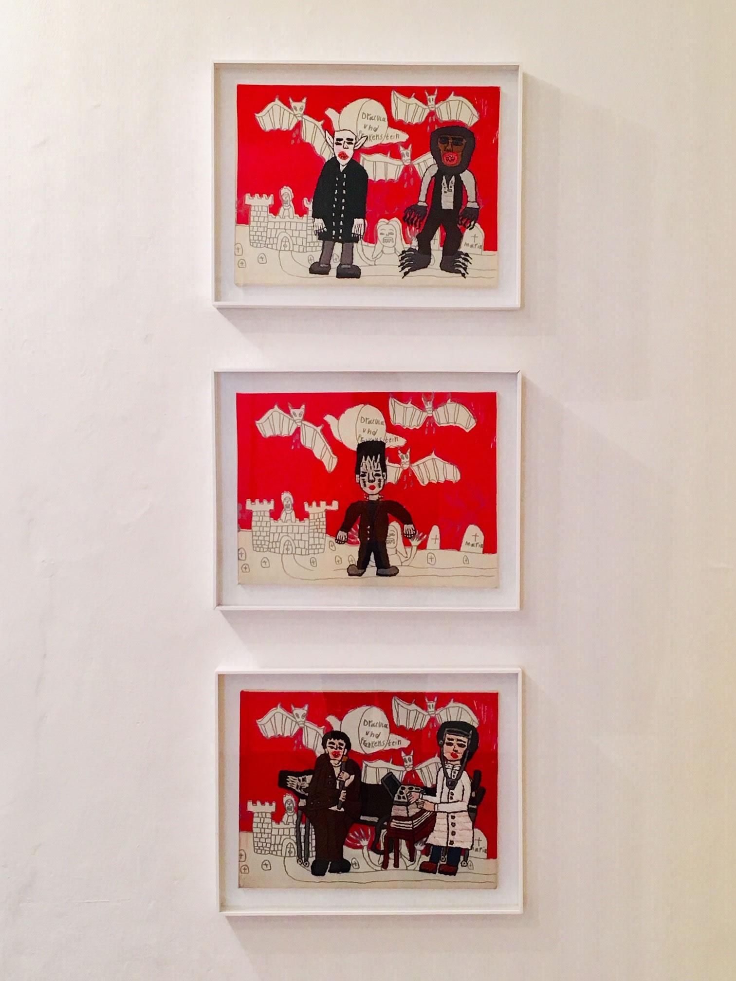 Rohullah Kazimi | Serie Dracula Frankenstein Stickbilder | unheimlich heimelig | Galerie3