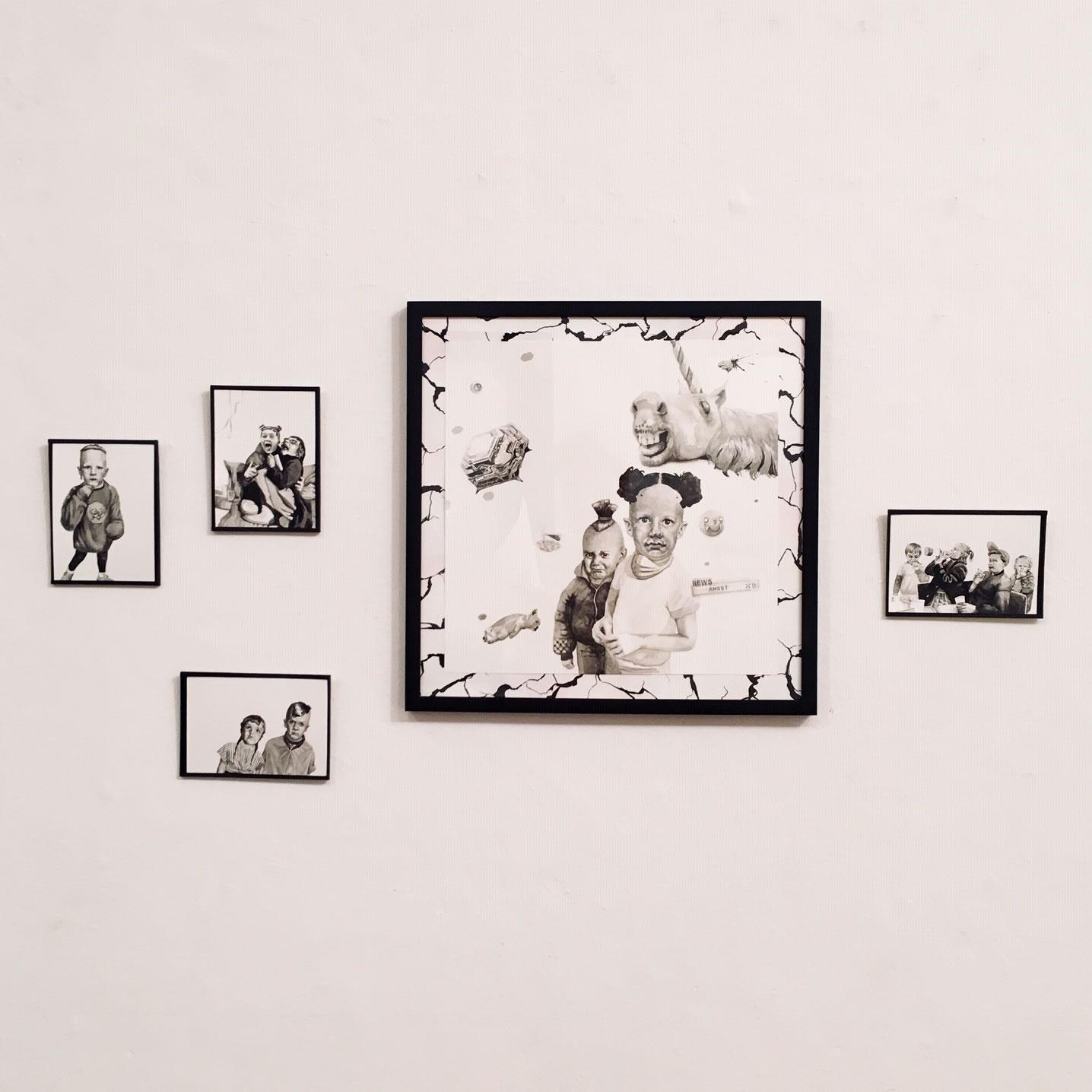 Annemarie Arzberger | Kinderparty | Aquarelle 2018 | unheimlich heimelig | Galerie3