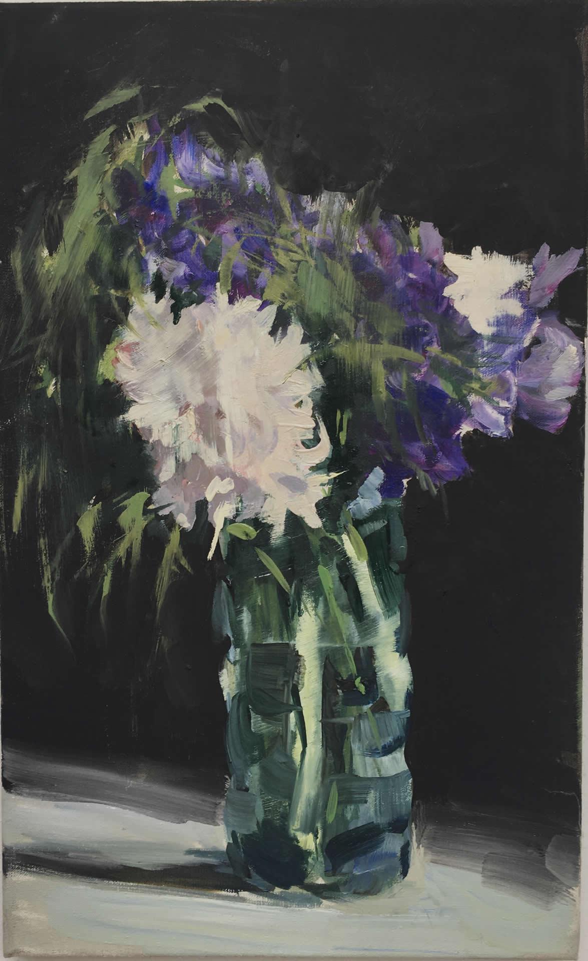 Alex Amann | O.T. | 2020 | Öl auf Leinwand | 45x28cm | plaisirs simples | Galerie3