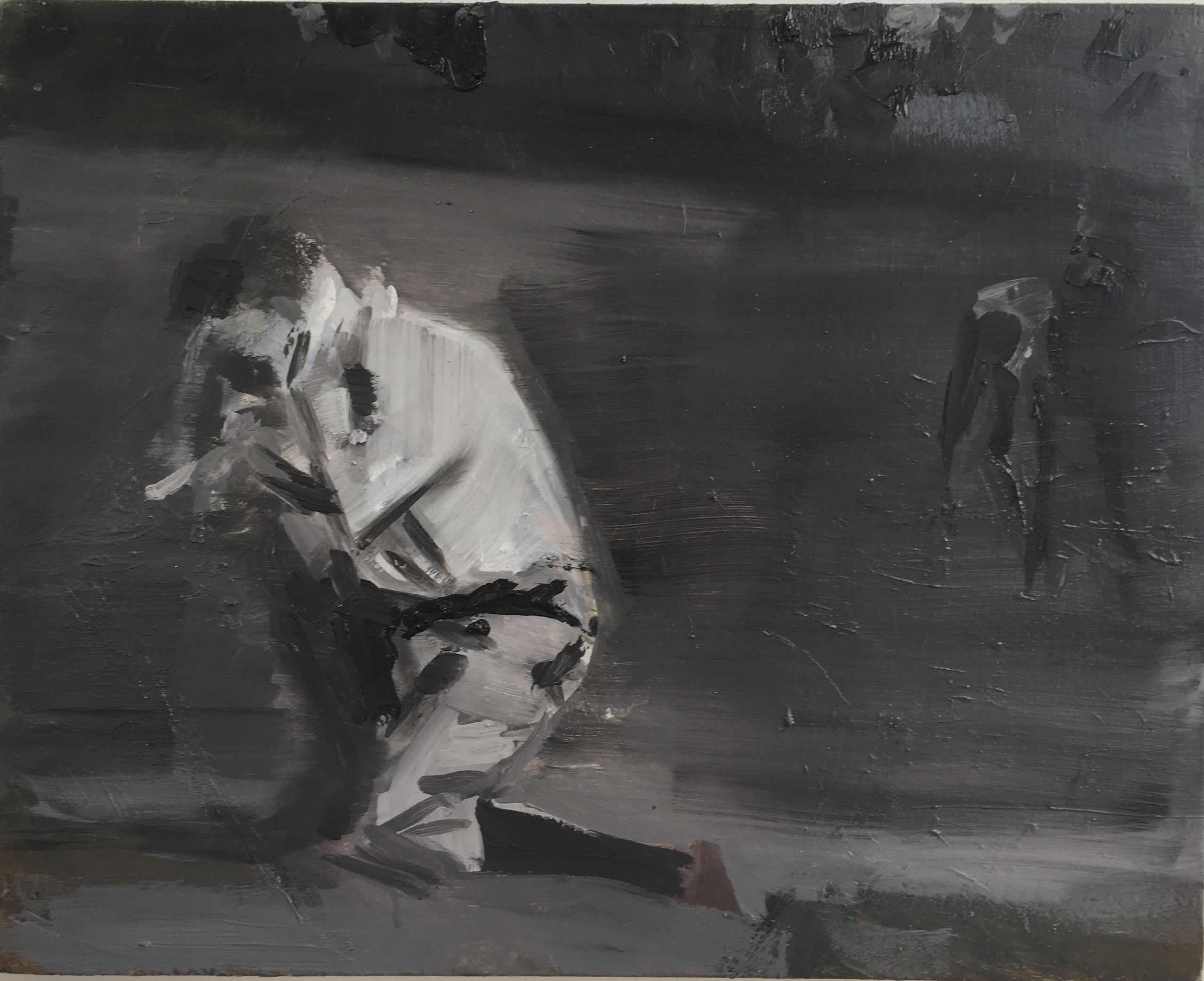 Alex Amann | O.T. (Mann) | 2020 | Öl auf Leinwand | 40x50cm | plaisirs simples | Galerie3