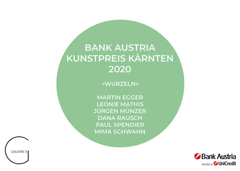Bank Austria Kunstpreis Kärnten 2020 | Sujet Einladung | Galerie3