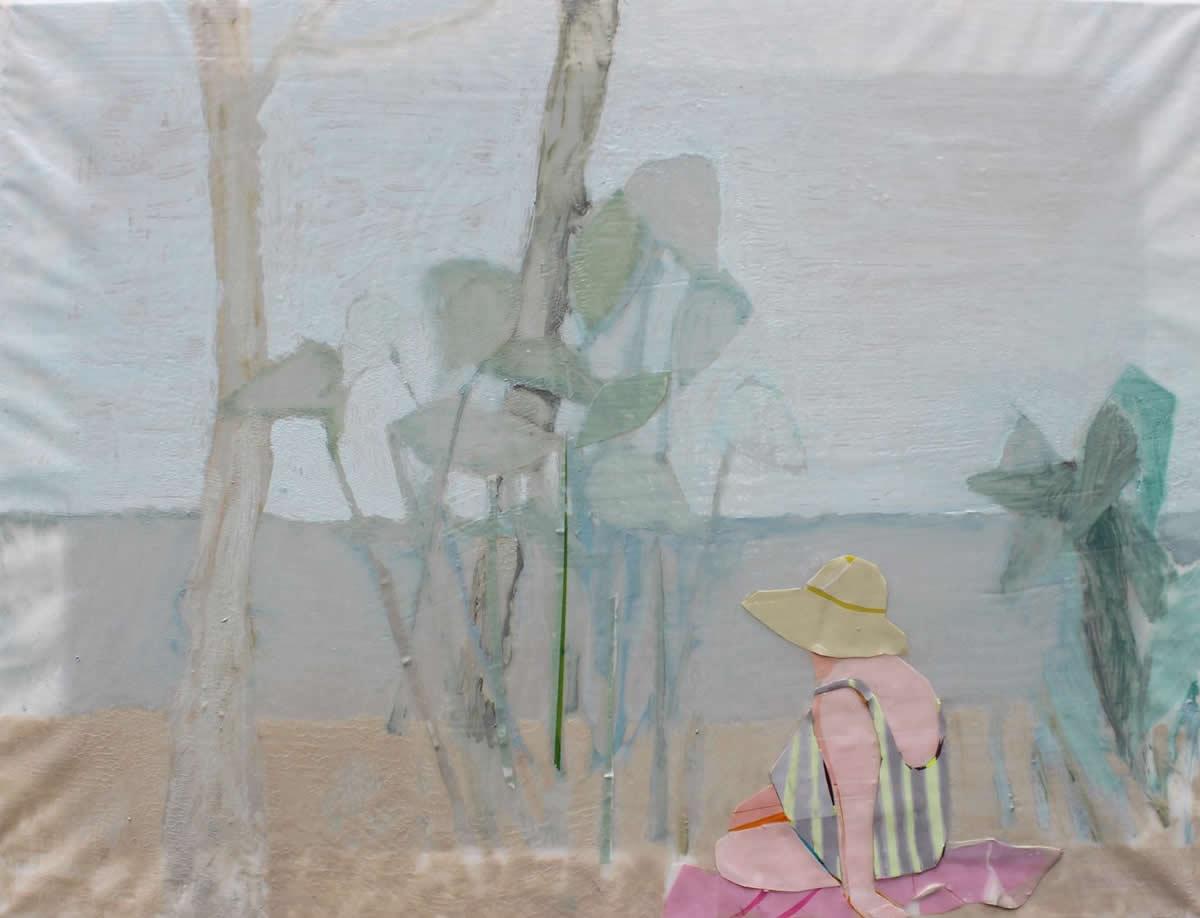 Anthia Loizou | Woman with straw hut | Galerie3