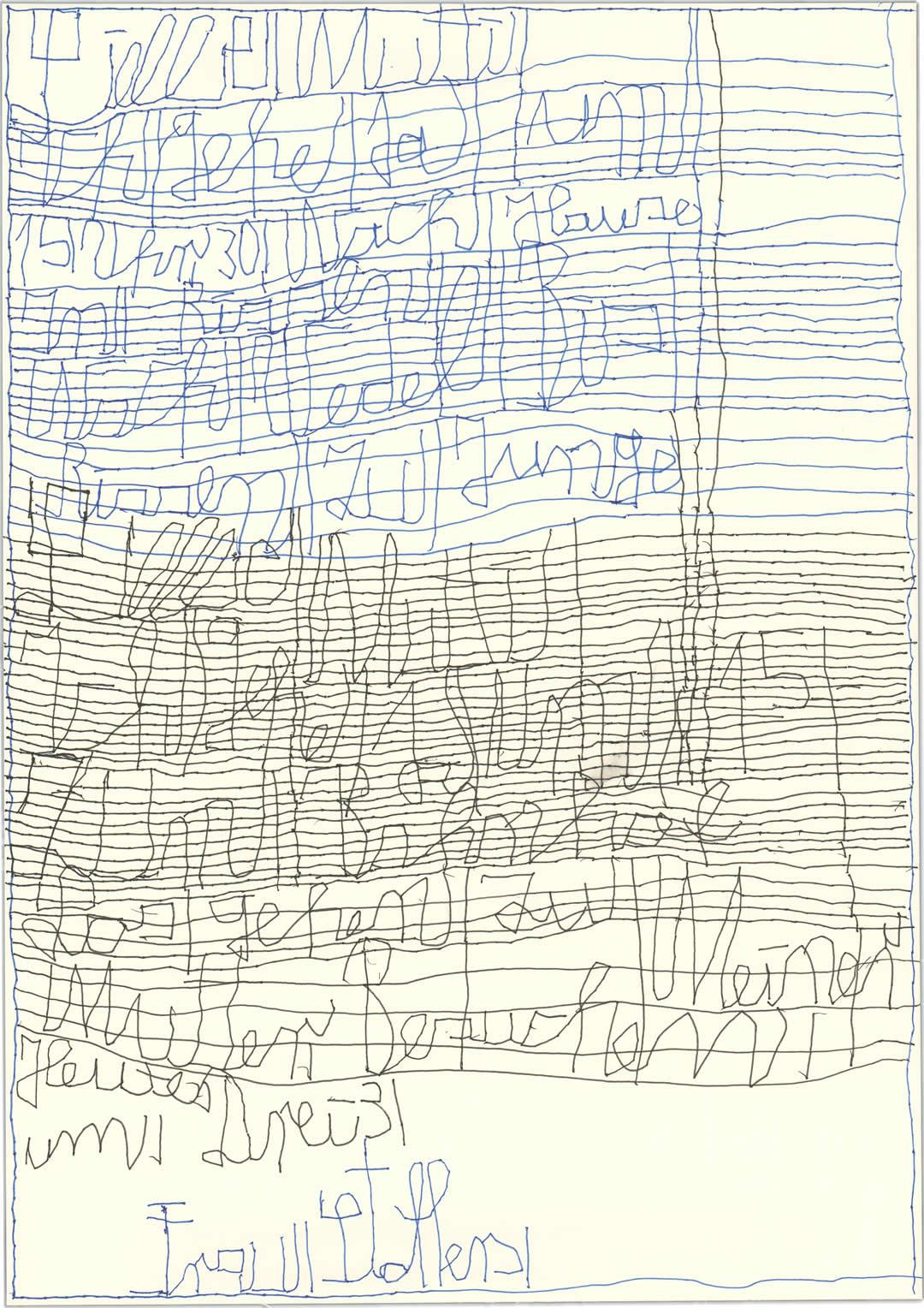 Harald Stoffers | Brief 426 | 2019 | Tinte auf Papier | 42x29,6cm | Courtesy Galerie3 Foto Galerie der Villa