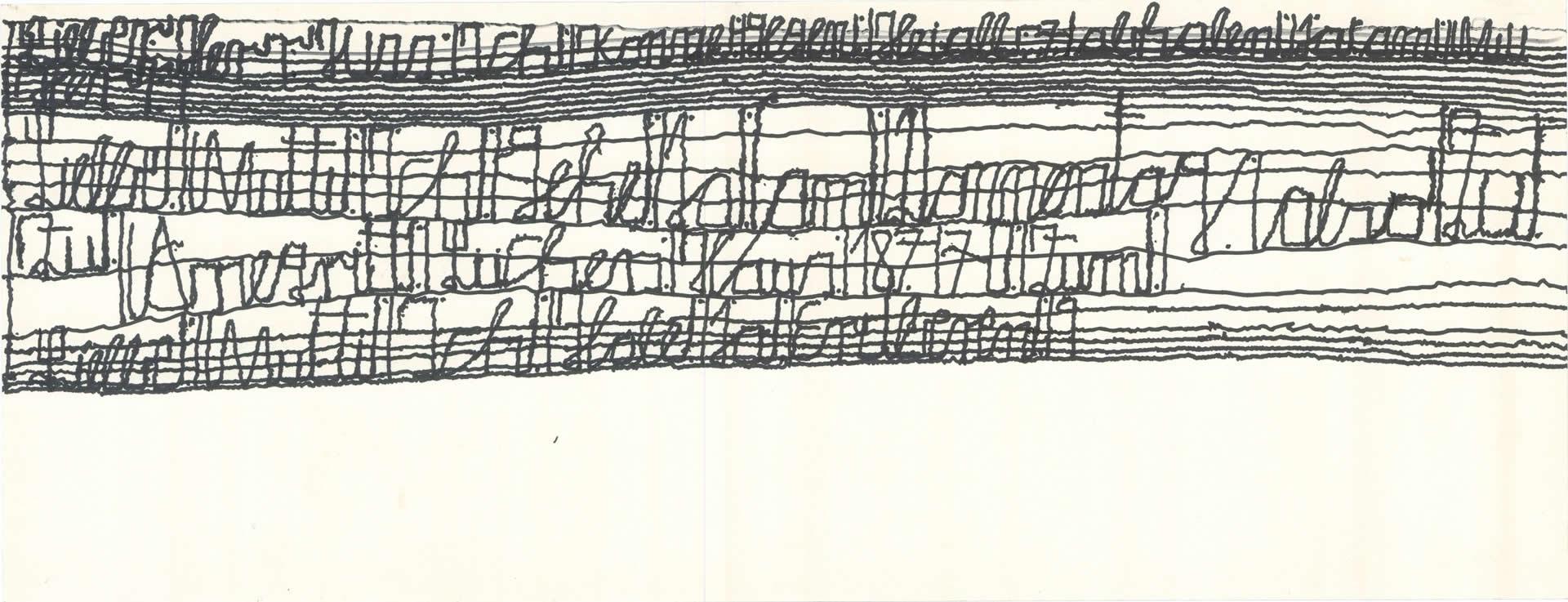Harald Stoffers | Brief179 2011 | 21x55cm | viennacontemporary | Galerie3