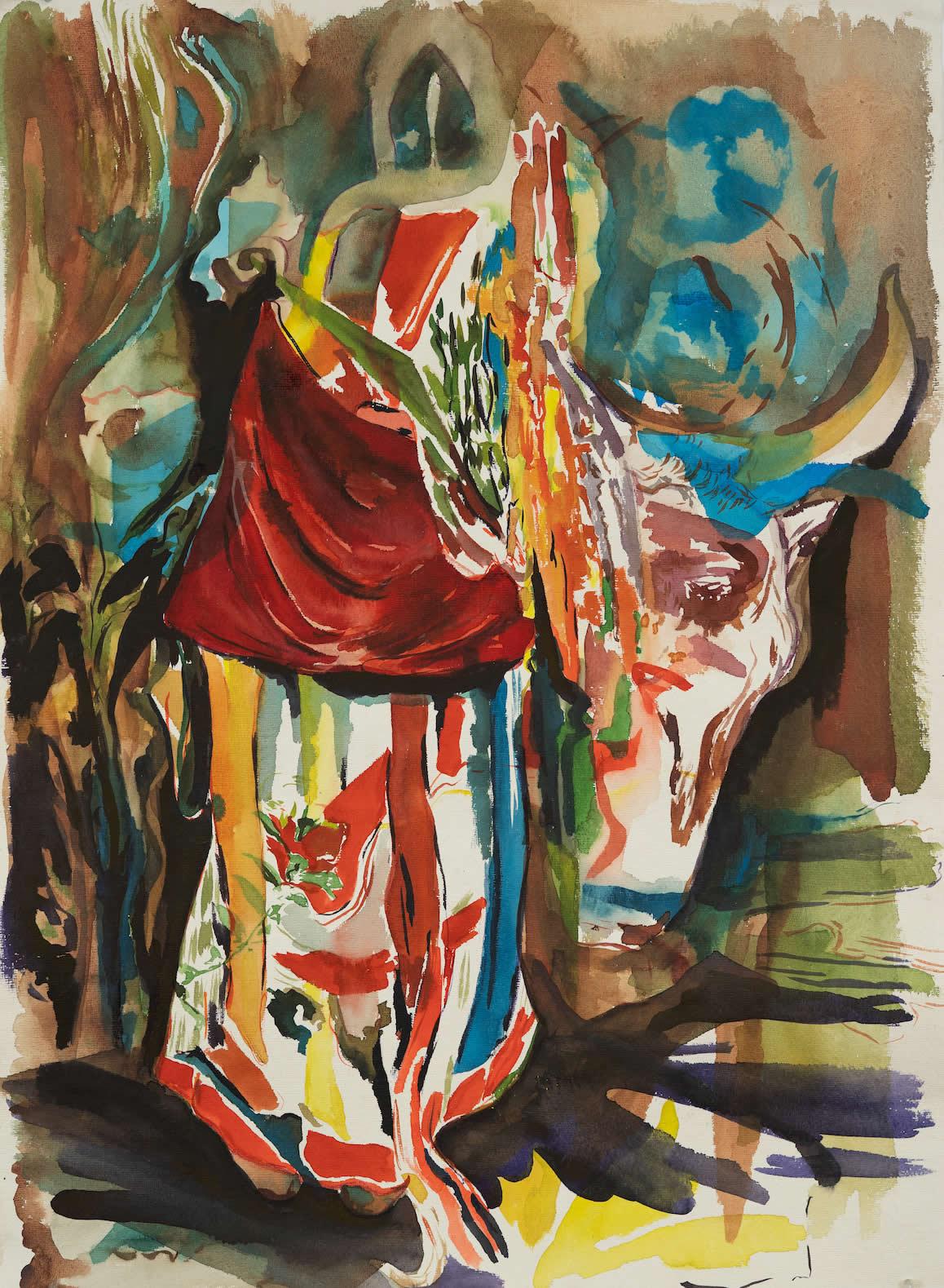 Elisabeth Wedenig | 2019 | Lama Dance | 76x56cm | Foto Peter Schaflechner