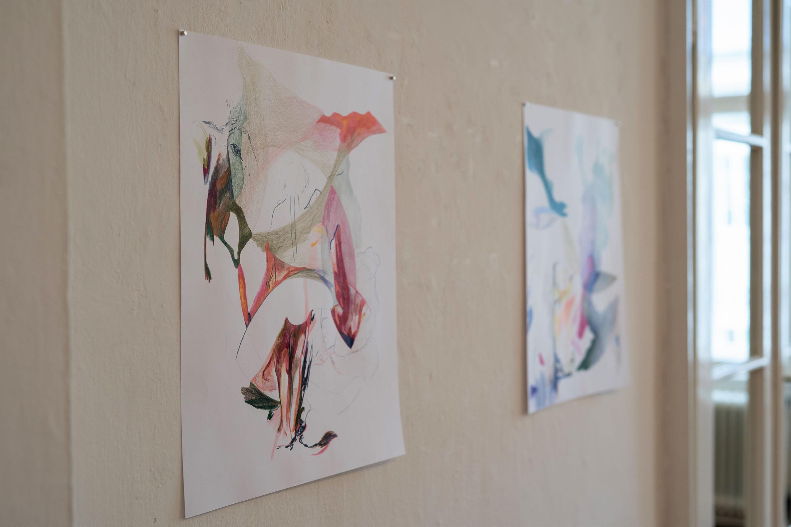 Aus dem Raum gefallen | 07 | Zeichnungen | Elisabeth Wedenig | 2019 | Foto: Peter Schaflechner | Galerie3