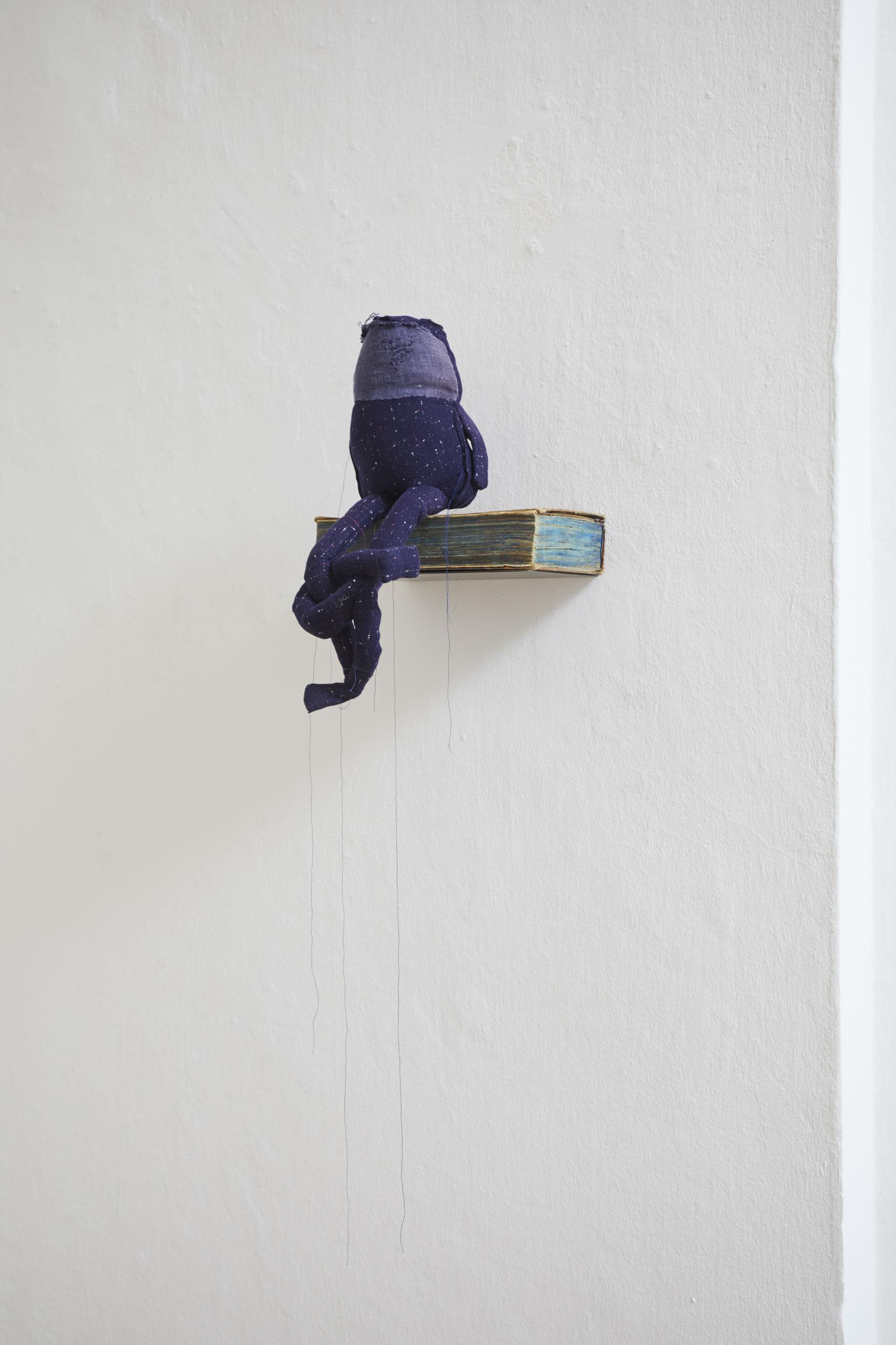 Andrea Vilhena | Wirtschaftskunde | 2019 | Textil | Buch | 39 x 23 x 31 cm | Foto Johannes Puch | Galerie3