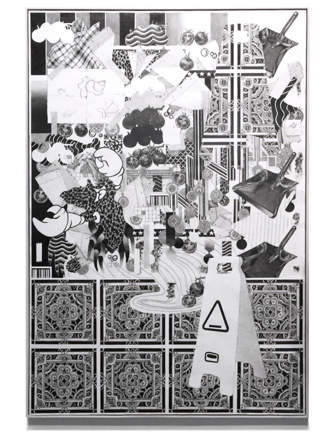 Patrick Roman Scherer | 1 | 2018 | 220 x 150 cm | Foto Anna Stückelschweiger | Galerie3