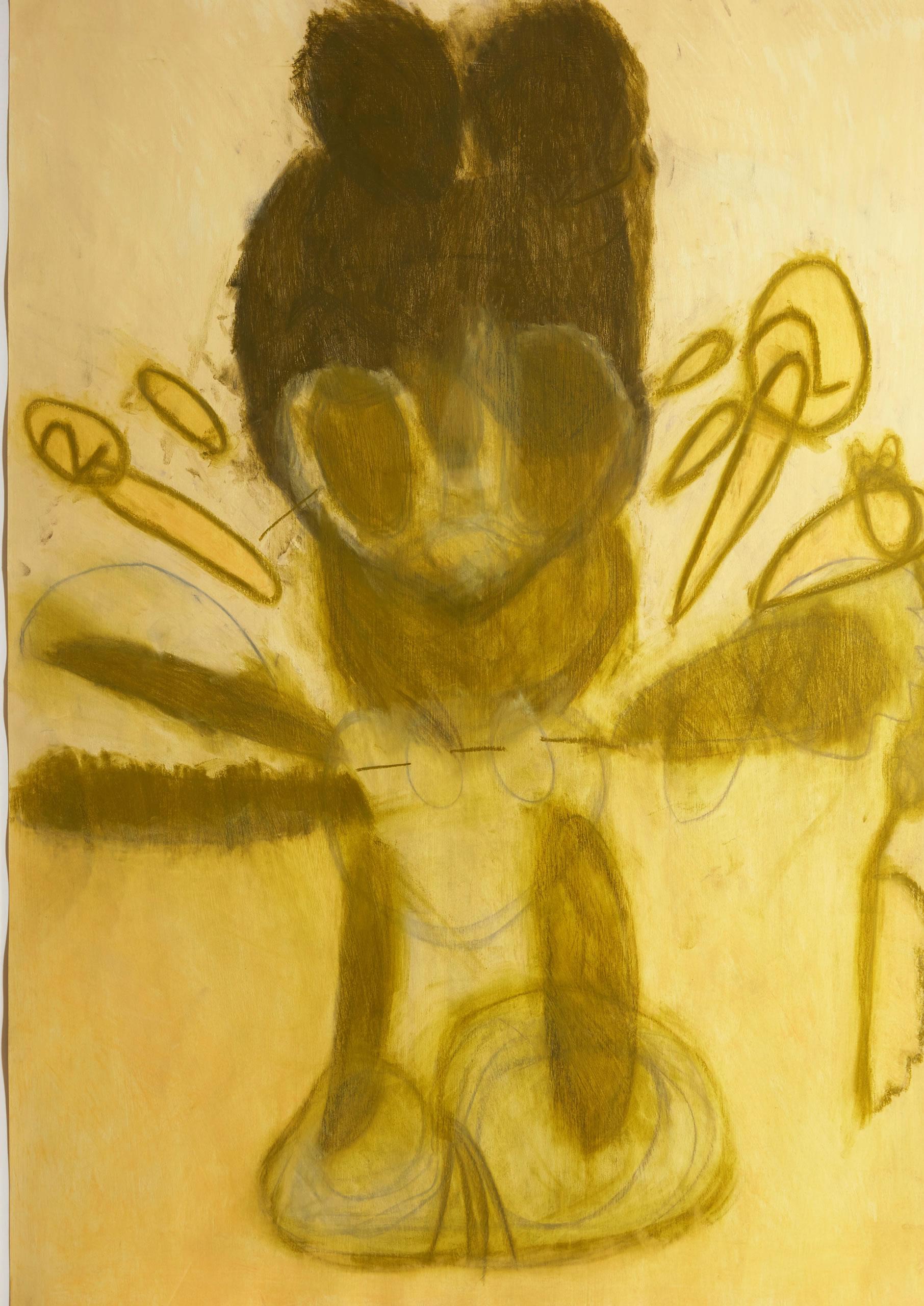 Sylvia Manfreda | Micky Mouse | 2009 | Pastell auf Papier | 100 x 70 cm | Foto Johannes Puch | Galerie3