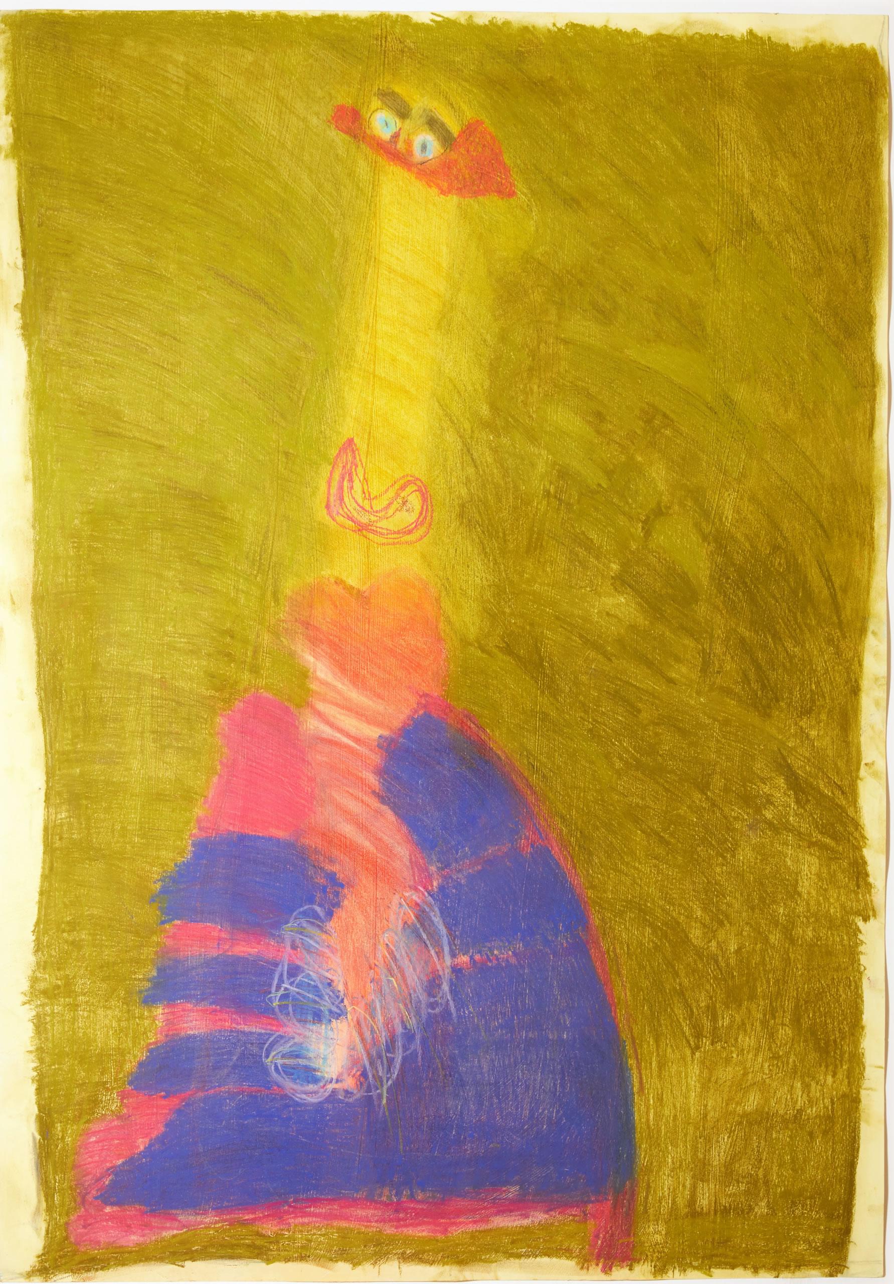 Sylvia Manfreda | Sächsische Prinzessin | 2014 | Pastell auf Papier | 100 x 70 cm | Foto Johannes Puch | Galerie3