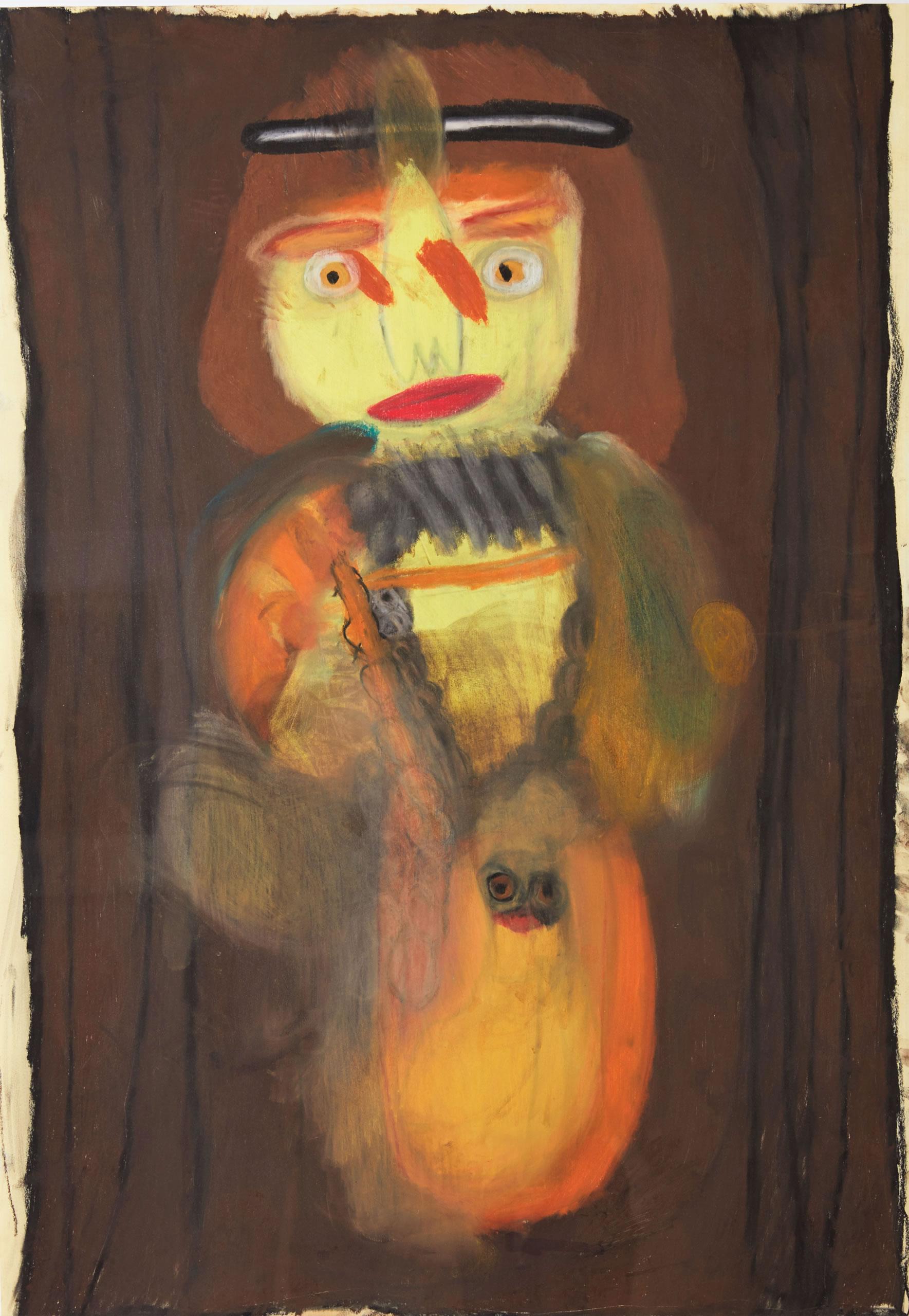 Sylvia Manfreda | Dame mit Hermelin | 2008 | Pastell auf Papier | 100 x 70 cm | Foto Johannes Puch | Galerie3