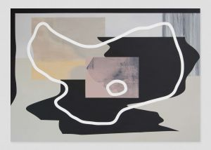 David Mase | 7am | Wolken und andere Wahrheiten | 130 x 185 cm | Acryl und Kreide auf Leinwand | 2019 | Flux23