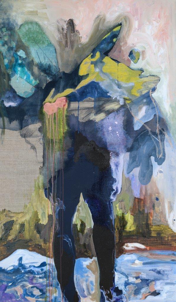 Elisabeth Wedenig | search for traces | 2018 | 120 x 70 cm | Oil Acryl Graphit on Linen | Foto: Arnold Pöschl | Galerie3