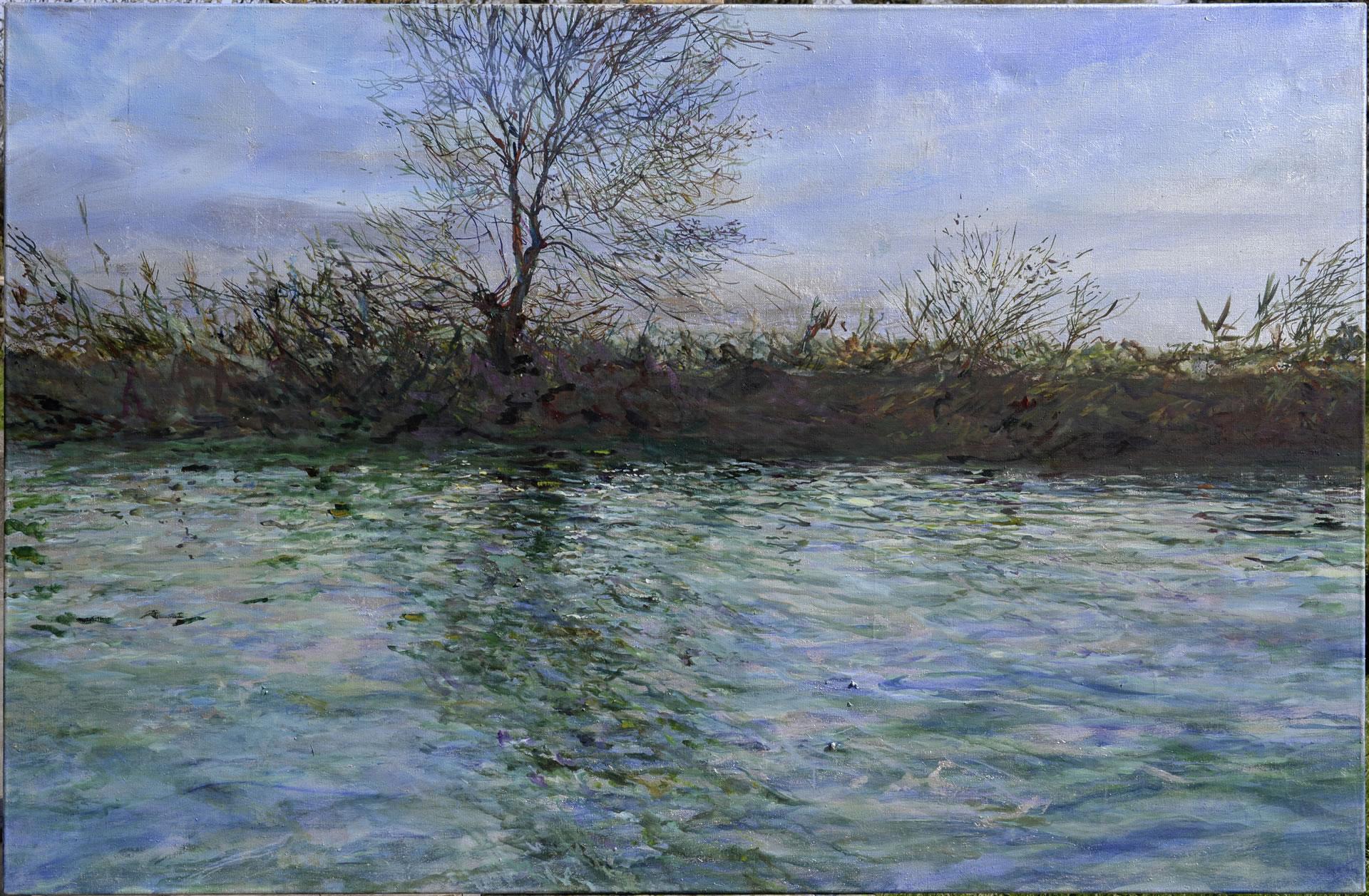 FLUX23 | Markus Orsini-Rosenberg | Lagune bei Grado 1 | 2017 | 110 x 170 cm