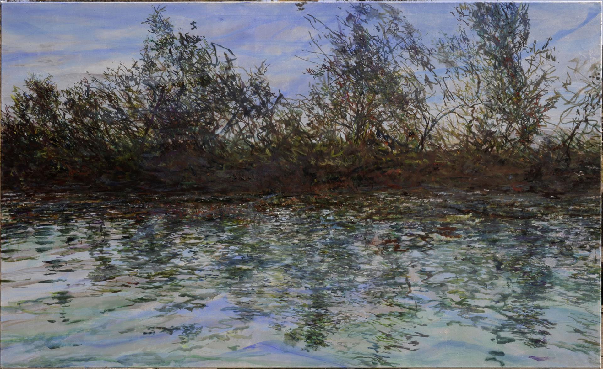 FLUX23 | Markus Orsini-Rosenberg | Lagune bei Grado 2 | 2018 | 110 x 180 cm