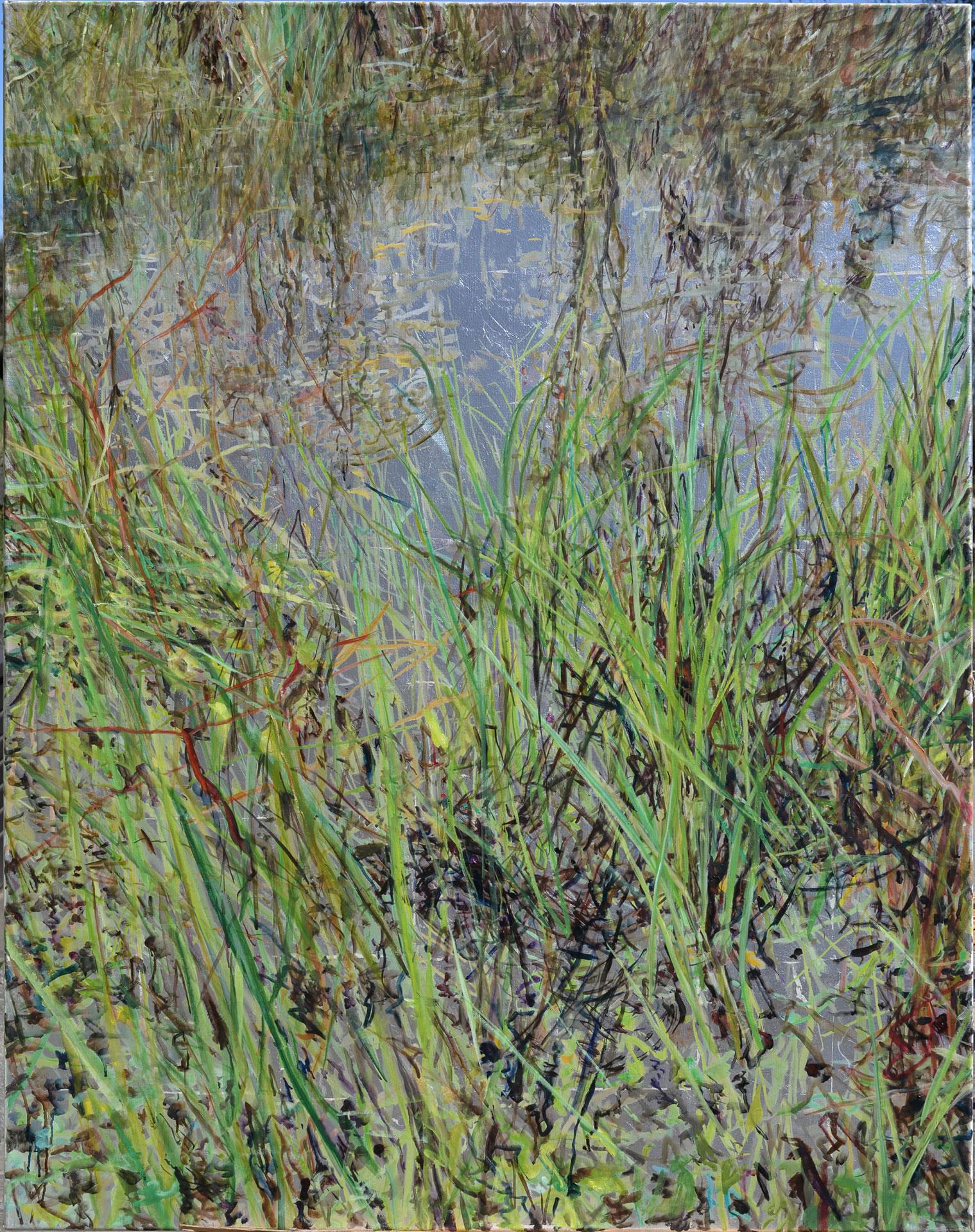 FLUX23 | Markus Orsini-Rosenberg | Reflexion Teich Frühling 2 | 2015 | 140 x 110 cm