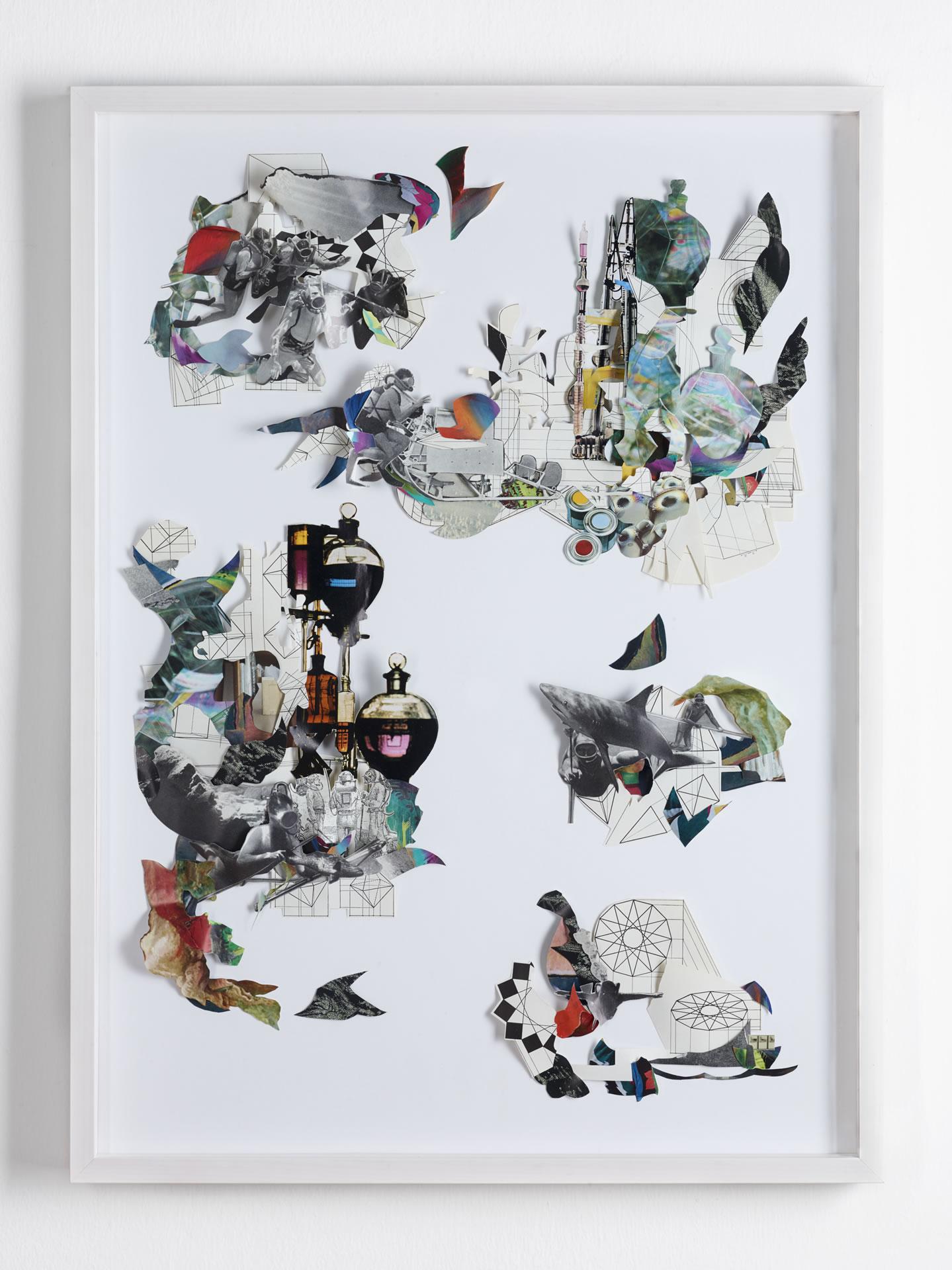 Galerie3 | Karen Elliot | Art Bubbeling | Collage | 2018 | 78 x 57 cm | Foto: Johannes Puch