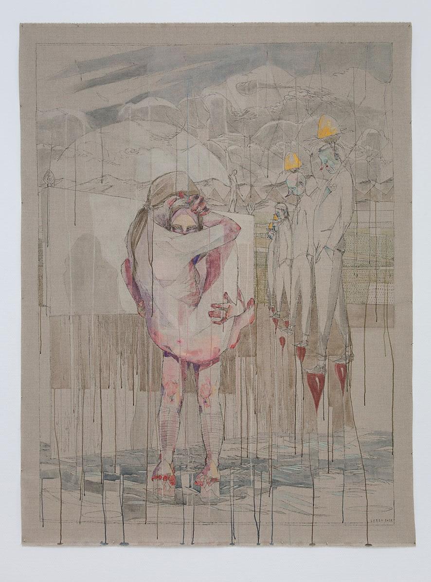 Galerie3 | Maria Legat | Reziprok III | UZLDW XXII | 2018 | 218 x 165 cm | Foto: Sandra Kosel