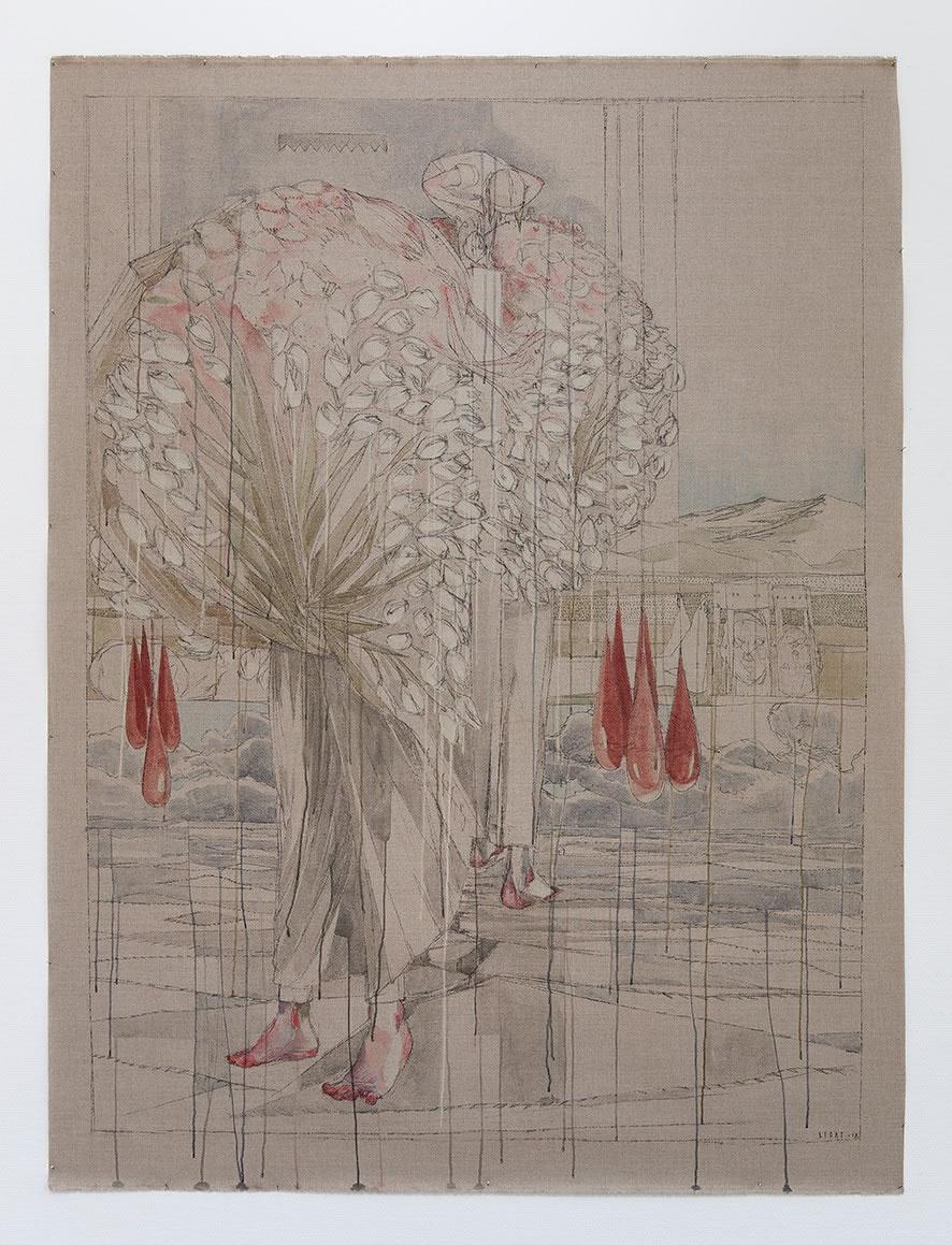 Galerie3 | Maria Legat | Haltbarkeit | UZLDW XXI | 2018 | 218 x 165 cm | Foto: Sandra Kosel