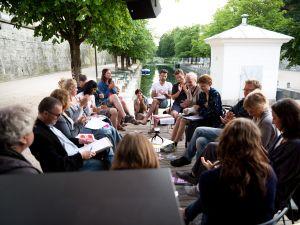 Gespräche zur sozialinolvierten Kunst   Lendhafen   Lendhauer   AAU   Foto: Daniel Hölbling-Inzko