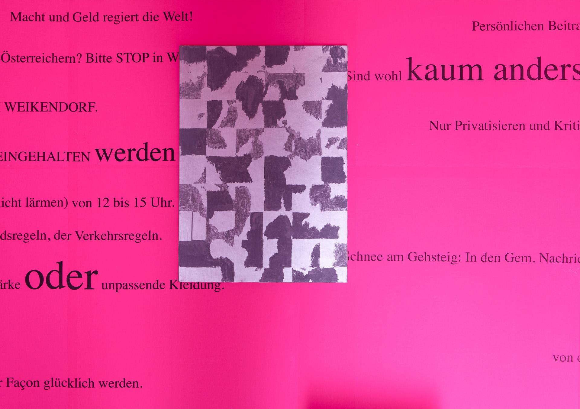 Iris Andraschek & Hubert Lobnig | Think about it | Sujet Einladung | Galerie3