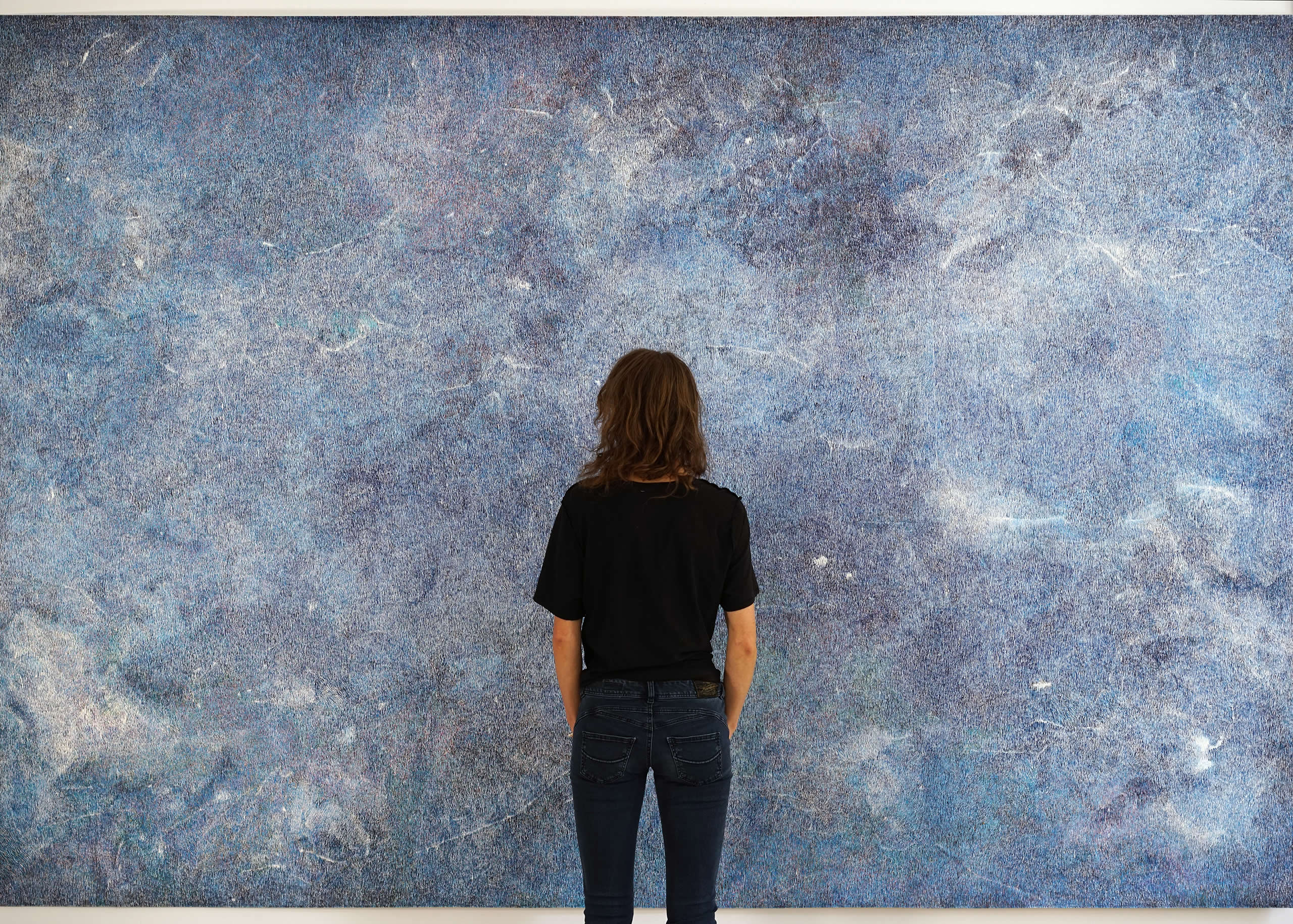 Linda Berger | The mountain never moves | Tusche auf Papier | 2019 | 320 x 220 cm | Galerie3