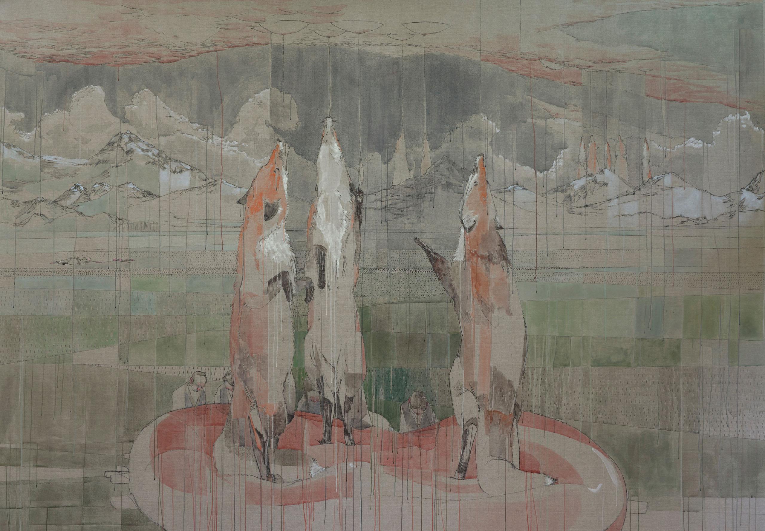 Maria Legat | Ende Gut | 2019 | Ausschnitt | 320 x 380 cm | Galerie3