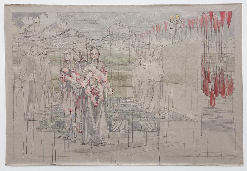 Maria Legat | UZLDW XVII | Haupt und Nebenstrang | 218x320cm | Ende Gut | Galerie3