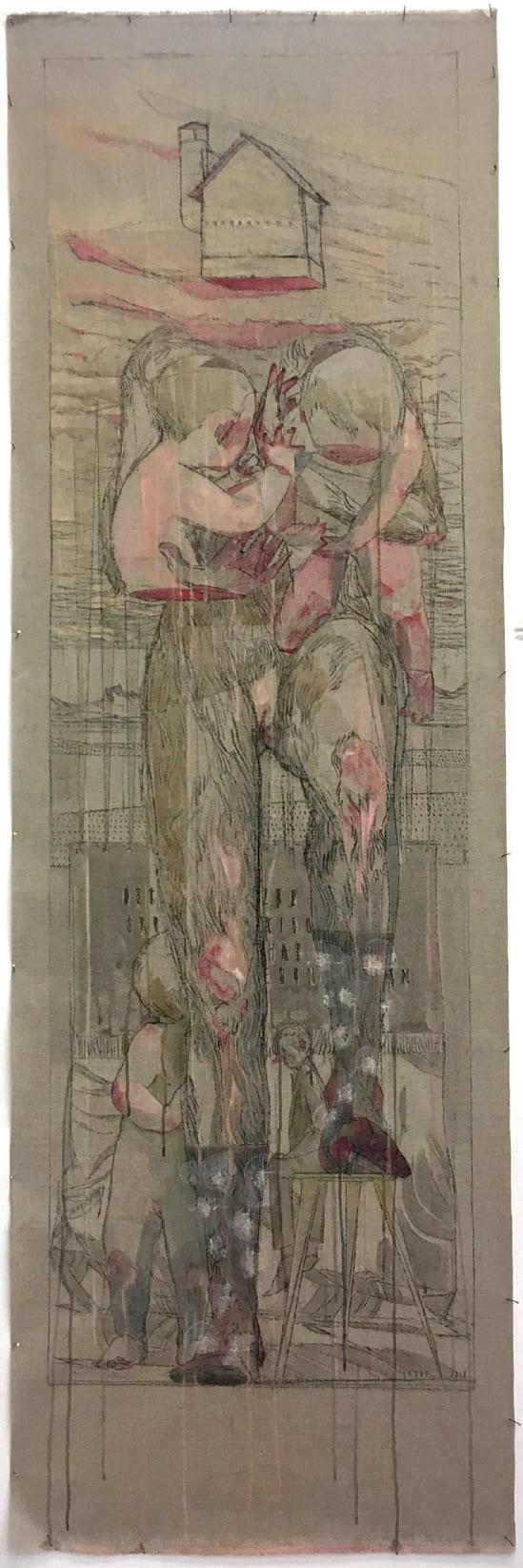 Maria Legat | ohne Titel | 218x70cm | Art Austia 2019 | Galerie3