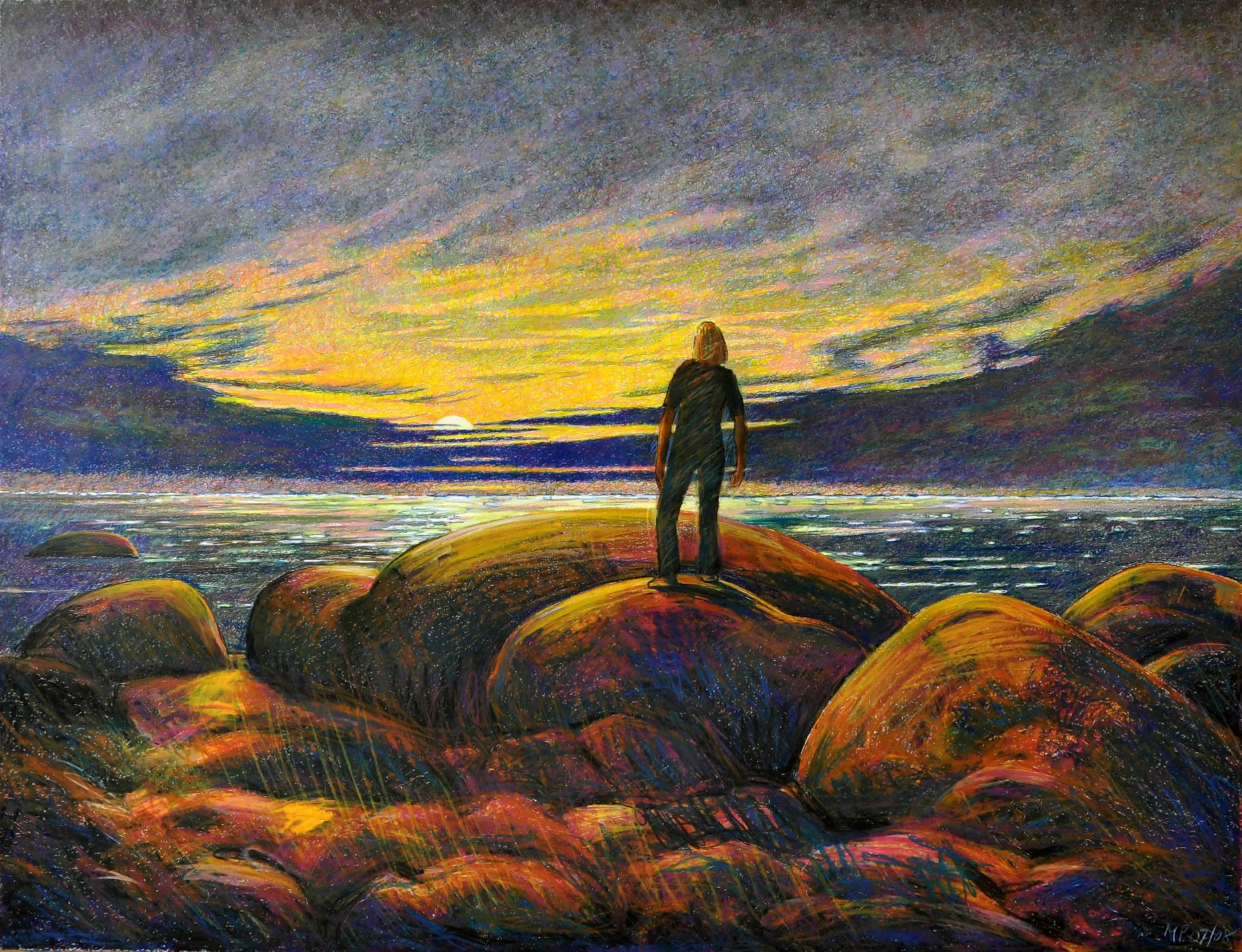 Max Peintner | Mein Besuch an der Ostsee | 2007 8 | Ölkreide | 105 x 135 cm | Galerie3