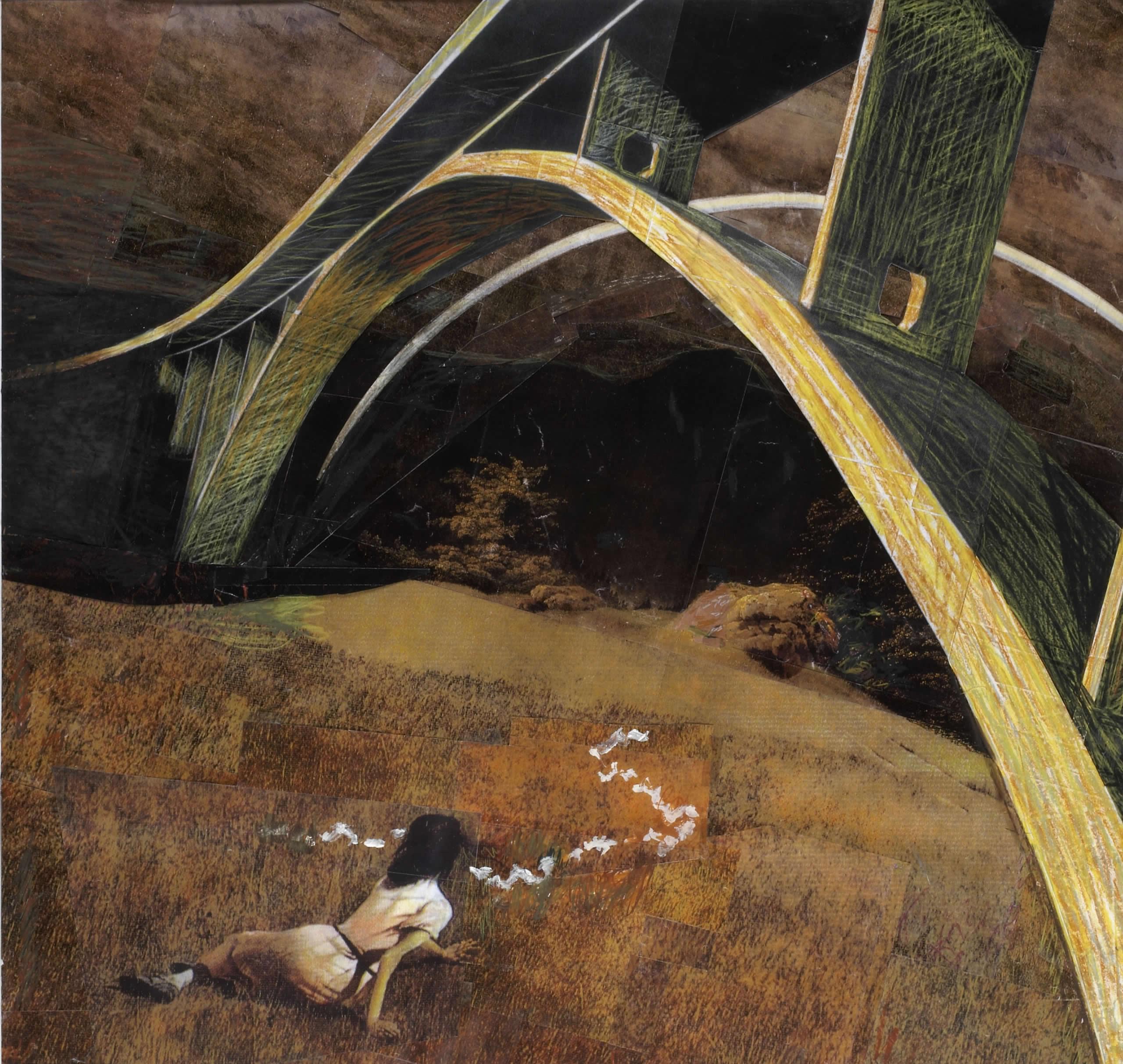 Max Peintner | Nach dem Regen | 2003 | Ölkreide | 102 x 119 cm | Foto Archiv Paintner | Galerie3
