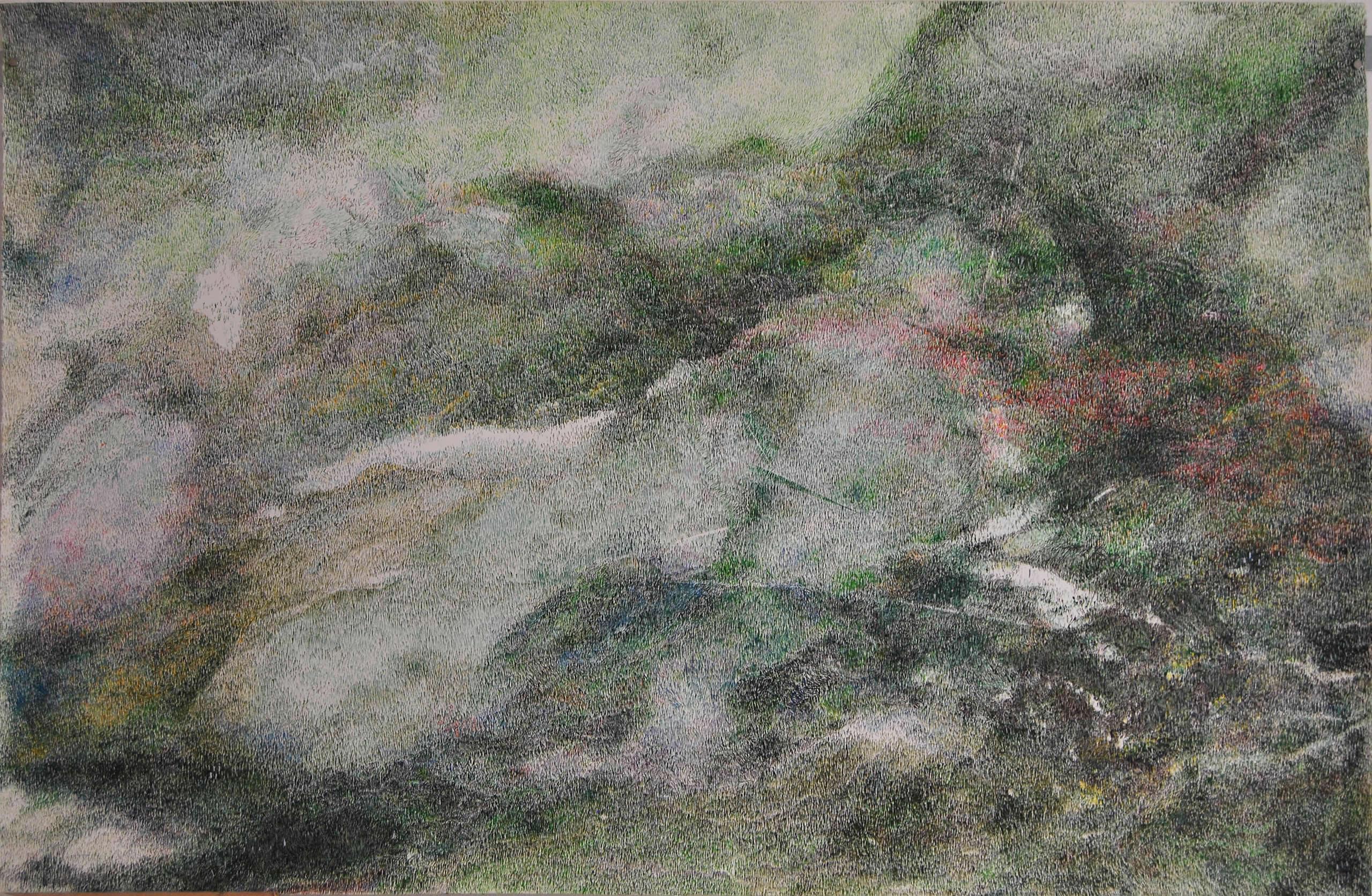 Linda Berger | Green sky with something to be | Strichwelten & Luftkörper | 2019-11 | Galerie3
