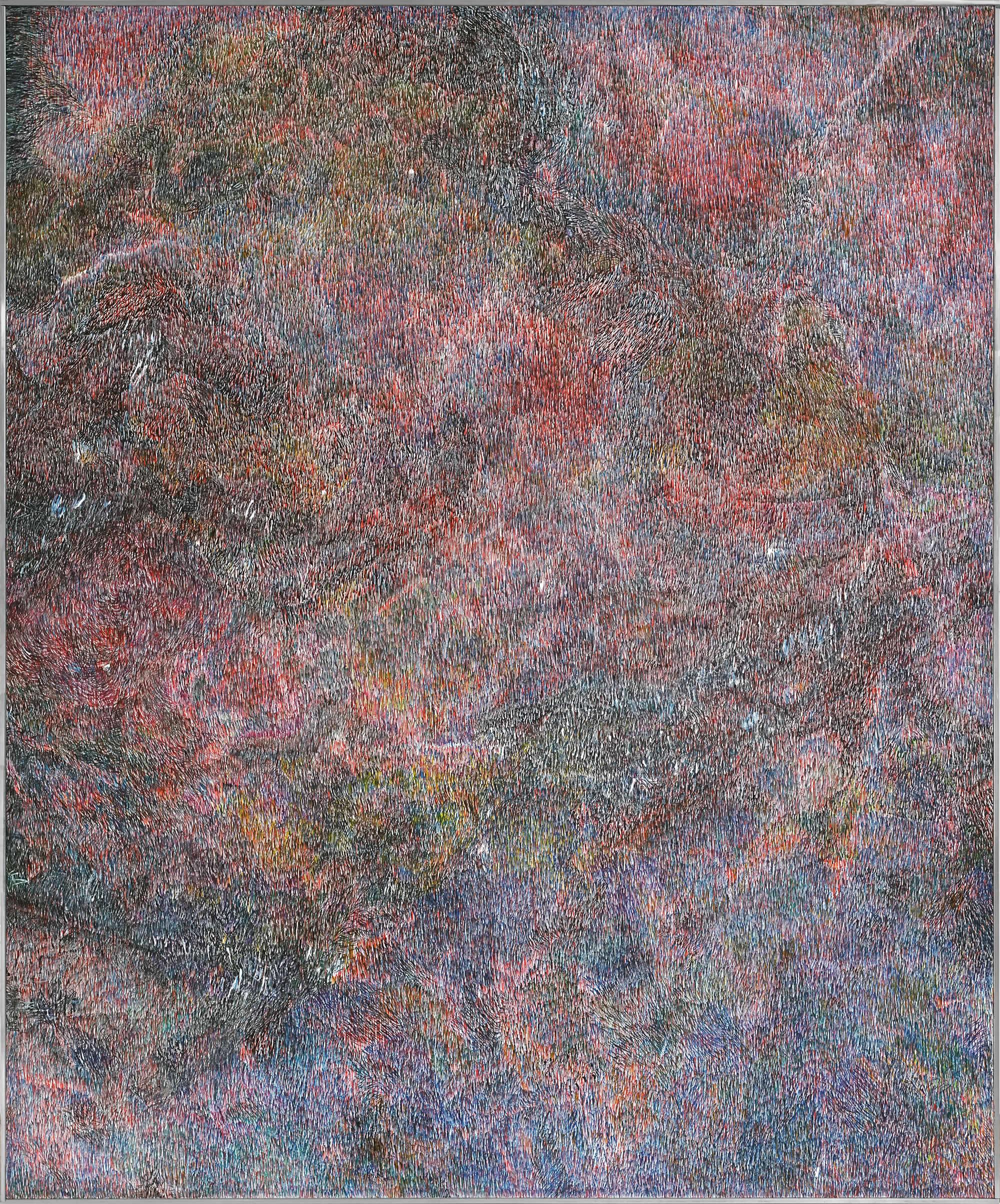 Linda Berger | Give me your eyes so you might see | 2019 | Tusche auf Papier kaschiert auf Holzplatte Aluleisten | 116,5x96,5cm | Strichwelten & Luftkörper | 2019-11 | Galerie3